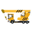 drawing elevating crane car mobile vector image vector image