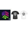 eat pasta run fasta - t-shirt print for t shirts vector image vector image