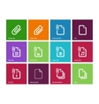 File Clip icons on color background vector image