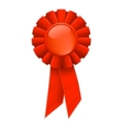 First place red ribbon vector image vector image