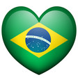 flag of brazil in heart shape vector image vector image