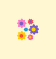 flowers icon flat element of vector image