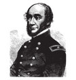 general george w cullum vintage vector image vector image