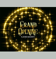 golden glitering sparkles grand opening vector image vector image