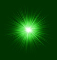 Green abstract explosion graphic background vector image