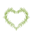 Green Leaves Forming in A Heart Shape vector image vector image
