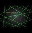 green line light laser cross overlap on dark grey vector image vector image
