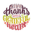Hand drawn thanksgiving typography poster