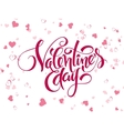 hand lettering valentines day greetings vector image vector image