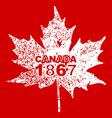 Happy Canada Day card in format vector image