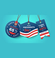 Happy presidents day holiday sale concept american