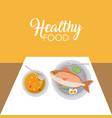 healthy and delicious food vector image vector image