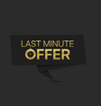 last minute offer vector image vector image