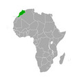 map morocco in africa vector image vector image