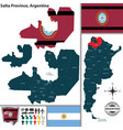 map of salta province argentina vector image vector image