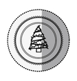 monochrome circle with middle shadow sticker with vector image vector image