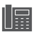 office phone glyph icon office and communication vector image vector image