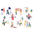 people of different artistic professions vector image vector image