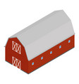 red barn isometric vector image