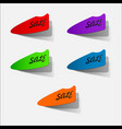 sale price tag icon sign isolated on white vector image vector image