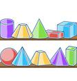 Seamless pattern mathematics solids vector image
