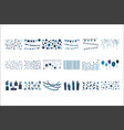 set hand drawn decorative elements vector image vector image