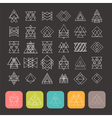 Set of 35 trendy geometric shapes Hipster retro vector image vector image