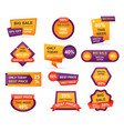 set retail sale tags stickers best offer price vector image vector image