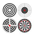 shooting range targets icons template vector image