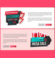 special promotion mega discount shops offers vector image vector image