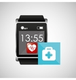 square smart watch health first aid vector image