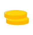 stacks of gold money coins income money coins vector image