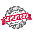 superfood stamp sign seal vector image vector image