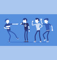 teenager boy bullying and reaction vector image