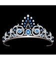tiara with sapphires vector image vector image
