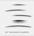 transparent realistic paper shadow effect set web vector image vector image