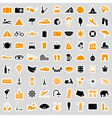 travel and holiday big set of color stickers eps10 vector image vector image