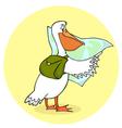 traveling pelican vector image vector image