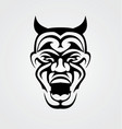 Tribal Devil Face vector image vector image
