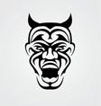 Tribal Devil Face vector image vector image