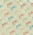Vintage background with bicycles silhouettes vector image vector image