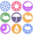 Weather Icons on a Colored Background vector image