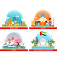web buttons travel to japan thailand india uae vector image