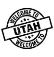 welcome to utah black stamp vector image vector image