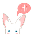 White Rabbit Sneaking vector image vector image