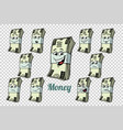 one hundred dollars cash packing emotions vector image