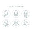 People Line Avatars vector image