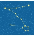 Pisces Zodiac Symbol on Background of Cosmic Sky vector image