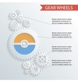 Abstract Gear Wheels Infographics Background vector image vector image