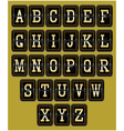 alphabet in retro style on background for web desi vector image vector image
